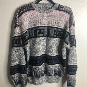 Vintage Chunky Knit Pattern Sweater